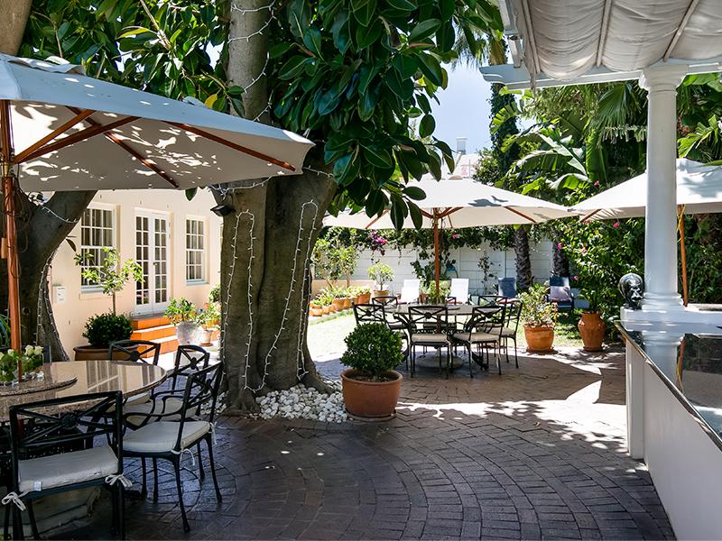 Terrasse Villa Andrea Kapstadt