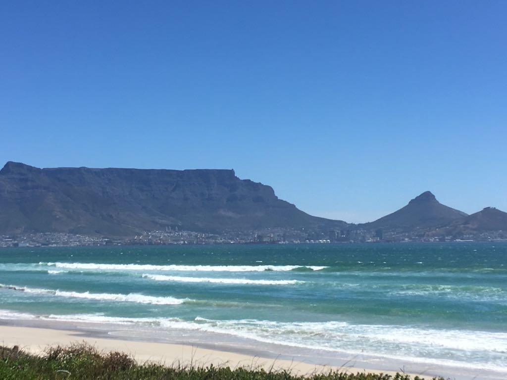 Kapstaden utsikt Taffelberget